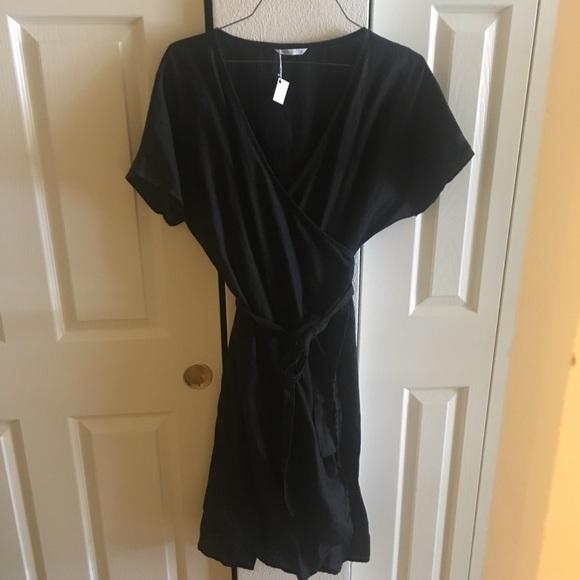 LinenFox Mimosa Wrap Dress NWT